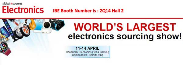 JBE's Booth No. :  2Q14 , Hall2